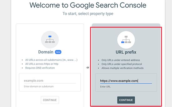اضافه کردن ادرس سایت