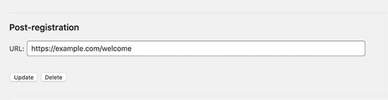 تنظیم تغییر مسیر ثبت نام کاربر در وردپرس