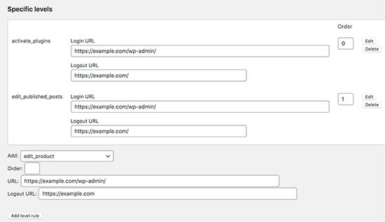 تنظیم تغییر مسیر ورود توسط قابلیت ها در وردپرس