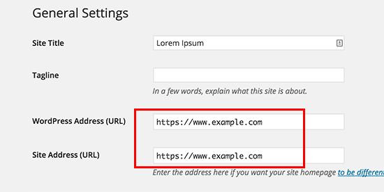 تغییر آدرس به https